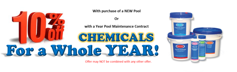 10% Off Pool Chemicals for a Whole YEAR!